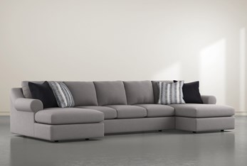 """Bryden 3 Piece 166"""" Sectional With Double Chaise"""