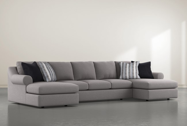 """Bryden 3 Piece 166"""" Sectional With Double Chaise  - 360"""