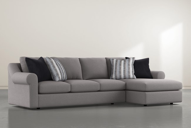 """Bryden 2 Piece 134"""" Sectional With Right Arm facing Chaise - 360"""