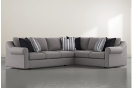 "Bryden 2 Piece 131"" Sectional With Left Arm facing Sofa"