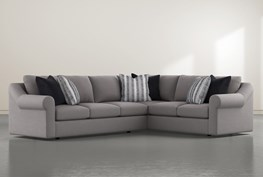 """Bryden 2 Piece 131"""" Sectional With Left Arm facing Sofa"""