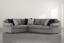 """Bryden 2 Piece 131"""" Sectional With Right Arm facing Sofa"""