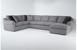 """Bryden 3 Piece 163"""" Sectional With Right Arm facing Chaise"""