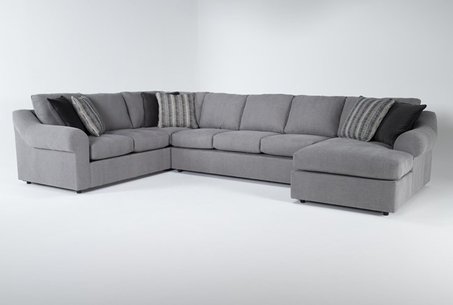 """Bryden 3 Piece 163"""" Sectional With Right Arm facing Chaise - 360"""