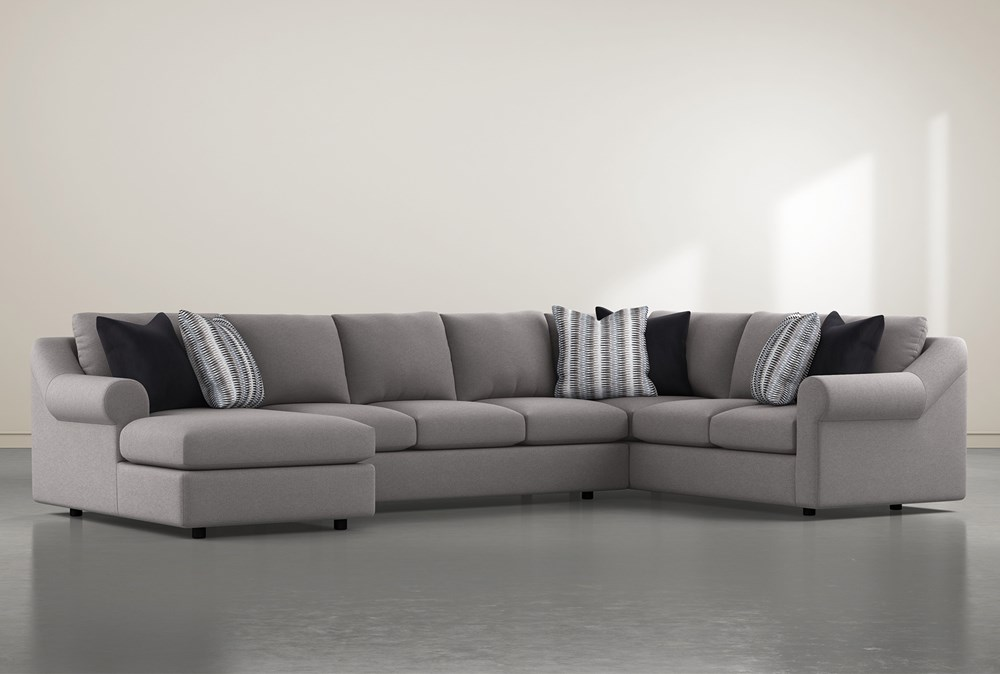 """Bryden 3 Piece 163"""" Sectional With Left Arm Facing Chaise"""
