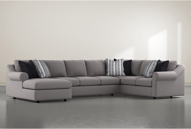 """Bryden 3 Piece 163"""" Sectional With Left Arm Facing Chaise - 360"""