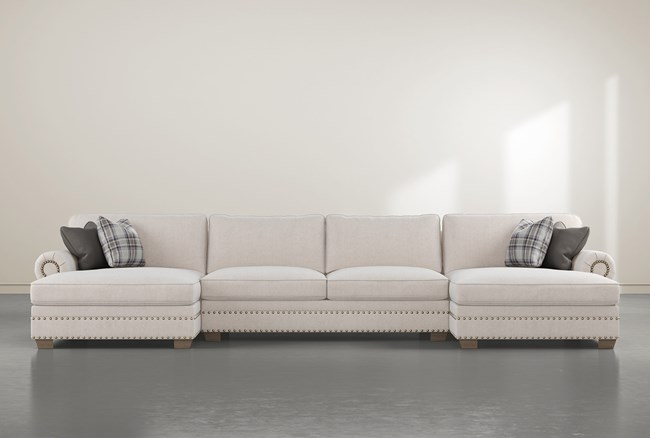 """Chesney 3 Piece 170"""" Sectional With Double Nailhead Chaise - 360"""