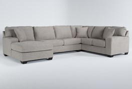 """Bryton Jute 3 Piece 141"""" Sectional With Left Arm Facing Chaise"""