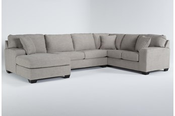 "Bryton Jute 3 Piece 141"" Sectional With Left Arm Facing Chaise"