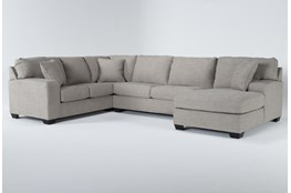 "Bryton Jute 3 Piece 141"" Sectional With Right Arm Facing Chaise"