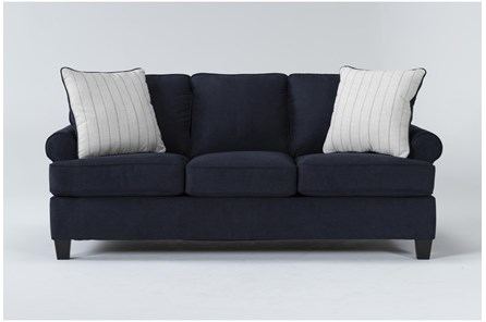 Blue Fabric Sofas Couches Living Spaces