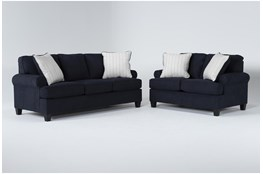 Cordelia Ink 2 Piece Living Room Set With Queen Sleeper