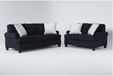Cordelia Ink 2 Piece Living Room Set With Queen Sleeper