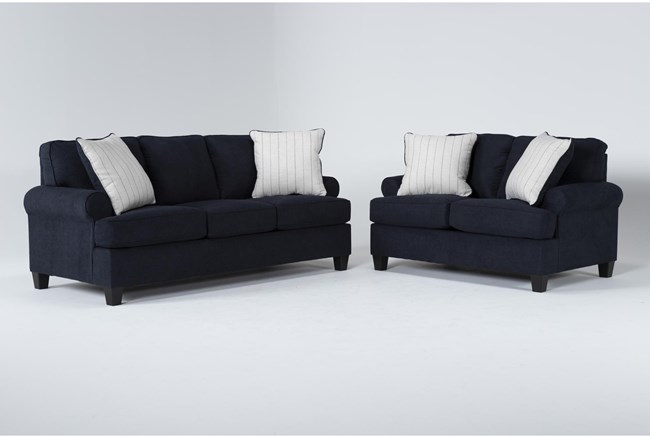 Cordelia Ink 2 Piece Living Room Set With Queen Sleeper - 360