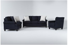 Cordelia Ink 3 Piece Living Room Set With Queen Sleeper