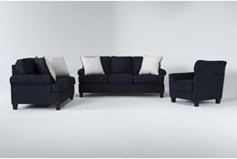 Cordelia Ink 3 Piece Living Room Set With Queen Sleeper