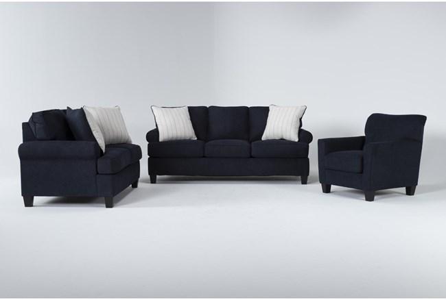 Cordelia Ink 3 Piece Living Room Set With Queen Sleeper - 360