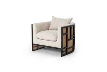Brushed Ebony Wood Frame + Cane Chair