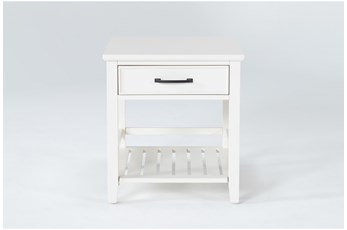 Presby White End Table