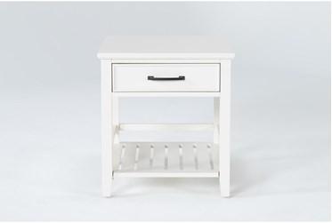 Presby White End Table