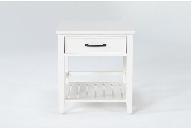 Presby White End Table - 360