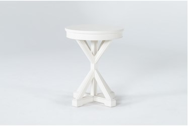 Presby White Round Accent Table