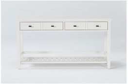 "Presby White 54"" Sofa Table"