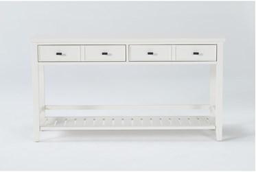 "Presby White 54"" Console Table"