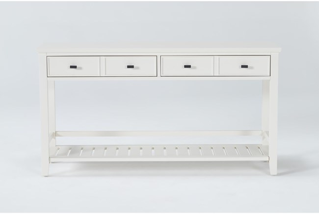 "Presby White 54"" Sofa Table - 360"