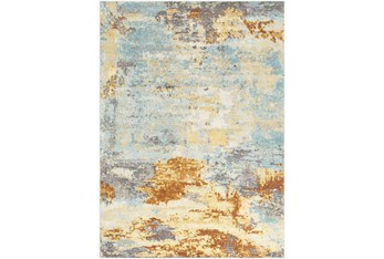 """5'3""""x7'3"""" Rug-Abacos Blue And Sunset"""