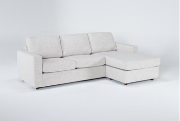 """Doheny Reversible 94"""" Sofa/Chaise With Storage Ottoman"""