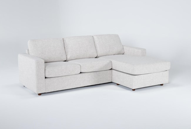 """Doheny Reversible 94"""" Sofa/Chaise With Storage Ottoman - 360"""