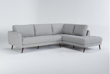 """Ginger Grey 2 Piece 110"""" Sectional With Right Arm Facing Chaise"""