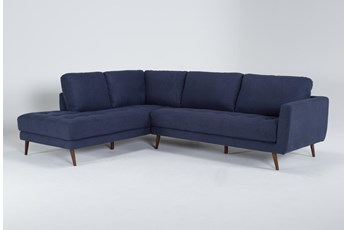"Ginger Denim 2 Piece 110"" Sectional With Left Arm Facing Chaise"