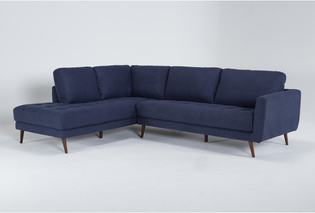 """Ginger Denim 2 Piece 110"""" Sectional With Left Arm Facing Chaise - 360"""