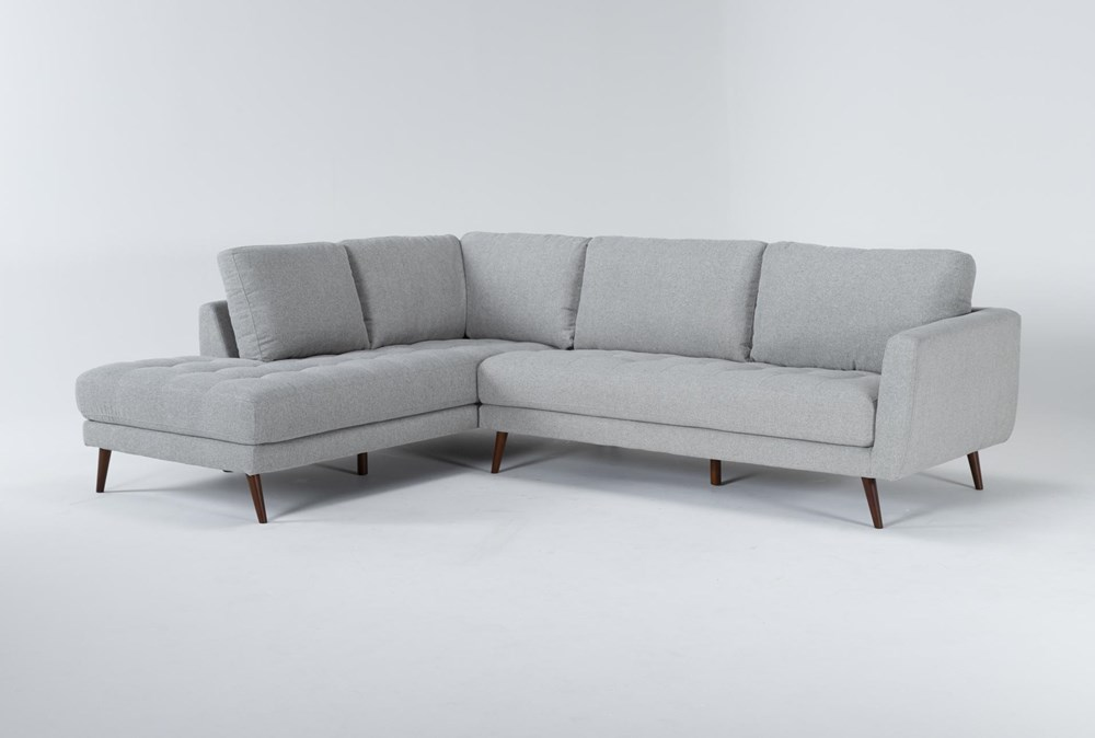 "Ginger Grey 2 Piece 110"" Sectional With Left Arm Facing Chaise"