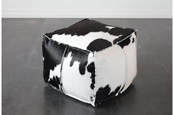 Cowhide Square Stool