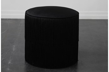 Black Fringe Stool