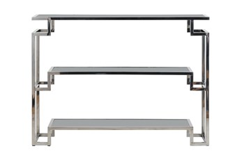 """Shiny Silver 55"""" Console Table"""