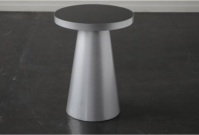 Smoke Glass + Silver End Table - 360