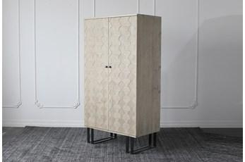 Weathered Pine + Black Bar Cabinet