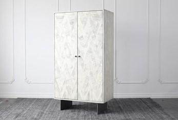 Antique White Bar Cabinet