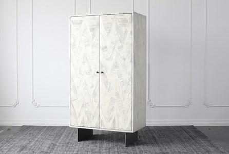 Antique White Bar Cabinet - Main