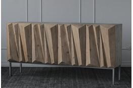 """Weathered Reclaimed Pine 4 Door 70"""" Sideboard"""