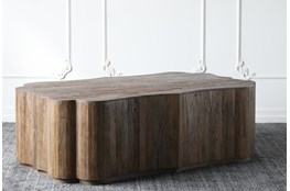 Weathered Reclaimed Elm Coffee Table