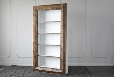 """Reclaimed Wood + White 87"""" Bookcase"""
