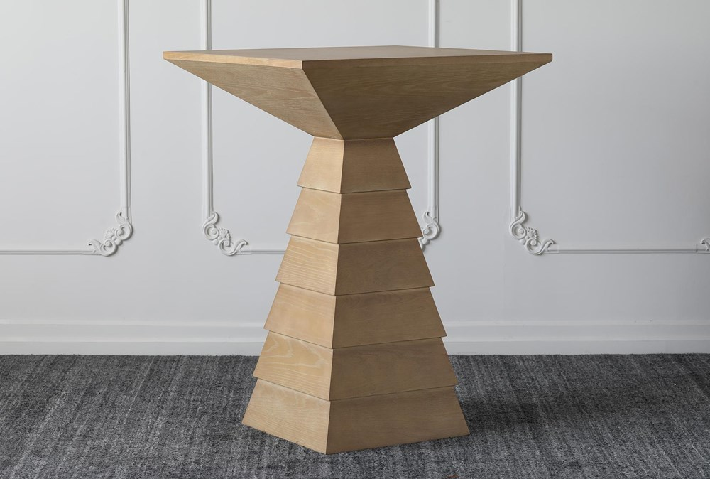 Triangle Base Square Bar Table