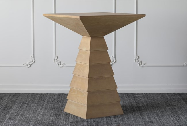 Triangle Base Square Bar Table - 360