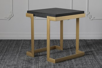 Black Oak + Gold Accent Table