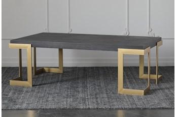 Black Oak + Gold Coffee Table